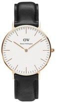 Daniel Wellington Men's Classic Sheffield Rose Watch Black