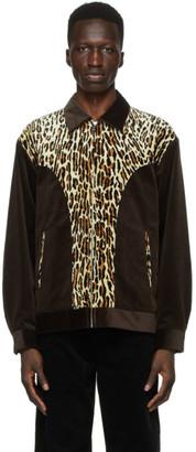 Wacko Maria Brown and Beige Corduroy Leopard Western Jacket