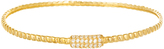 Bliss Cubic Zirconia & Gold Rope Bangle Bracelet