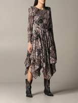 Etro Dress Long Dress With Asymmetrical Hem