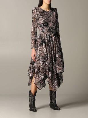 Etro Dress Long Dress With Asymmetrical Hem