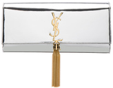 Saint Laurent Mirror Monogram Clutch with Tassel