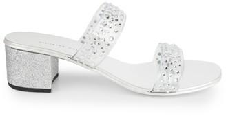 Giuseppe Zanotti Crystal-Embellished PVC Mules