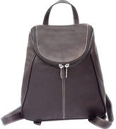 Piel Women's Leather UZip Flap Backpack 2466