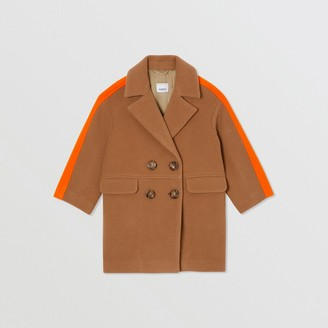 Burberry Colour Block Technical Wool Coat