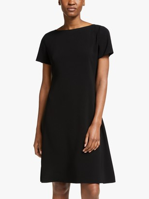 Theory Open Neck Dress, Black