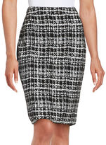 Calvin Klein Houndstooth Pencil Skirt