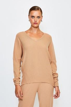 Karen Millen Knit Soft Yarn V Neck Jumper