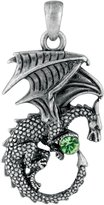 Summit New Green Ladon Dragon Pendant Collectible Accessory Necklace Serpent
