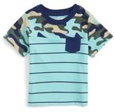 Infant Boy's Peek Brett Camo Stripe T-Shirt