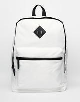 Asos Backpack In White Nylon - White