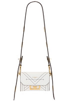 Givenchy Nano Eden Leather Contrasted Details Bag in White | FWRD