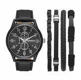 Arizona Mens Black 5-pc. Watch Boxed Set-Fmdarz538