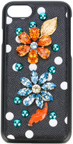 Dolce & Gabbana embellished iPhone 7 case - women - Leather/Plastic - One Size