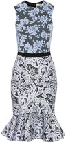 Mary Katrantzou Anne Catherine flocked tulle and printed twill dress