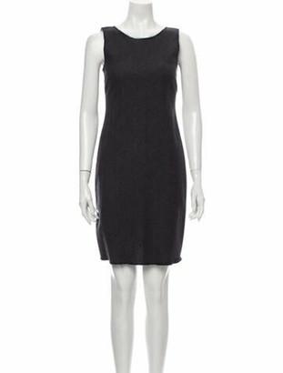 Prada Fleece Wool Mini Dress Wool