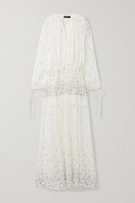 Amiri Paisley-print Silk-crepon Maxi Dress - Ivory