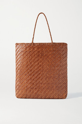 DRAGON DIFFUSION Kete Woven Leather Tote - Tan