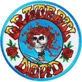 Christian Dior C&D Grateful Dead Garcia Round Skull Rose Embroidered iron on Patch p1228