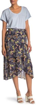 Velvet by Graham & Spencer Floral Printed Wrap Midi Skirt
