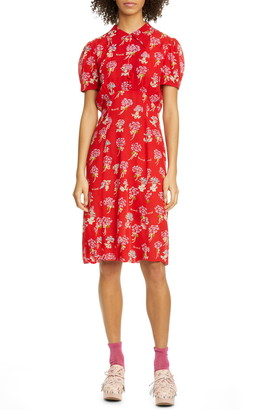 Anna Sui Berard Faces Print Dress