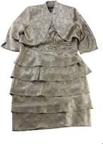 R & M Richards R&M Richards Sleeveless Beaded Jacquard Dress Matching Jacket
