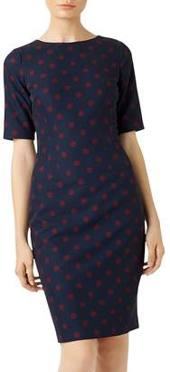 Hobbs London Astraea Polka Dot Sheath Dress