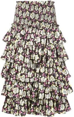 Cinq à Sept Mira floral print skirt