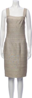 CARMEN MARCH Square Neckline Knee-Length Dress