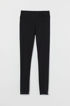 H&M Cotton Leggings - Black