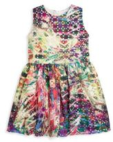 Halabaloo Toddler's & Little Girl's Tie Dyed Eyelet Dress