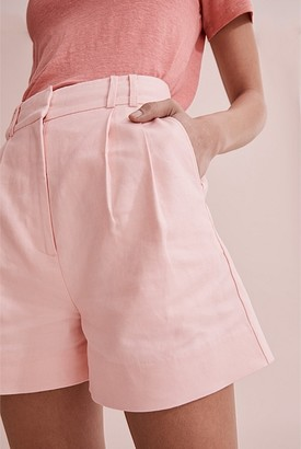 Country Road Organically Grown Linen Darted High Waist Short