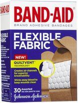 Safety First Band-Aid Flexible Fabric Adhesive Bandages-30ct, Assorted Sizes
