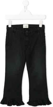 Fendi Kids Ruffled-Trimmed Jeans