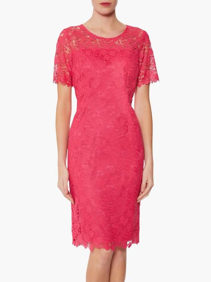 Gina Bacconi Sapphire Lace Embroidered Dress