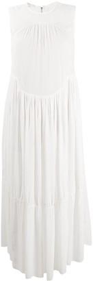 Vince Shirred Sleeveless Dress