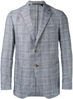 Eleventy checked slim-fit blazer - men - Silk/Cotton/Linen/Flax/Cupro - 48