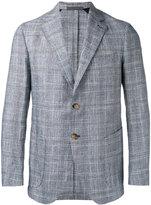 Eleventy checked slim-fit blazer - men - Silk/Cotton/Linen/Flax/Cupro - 50