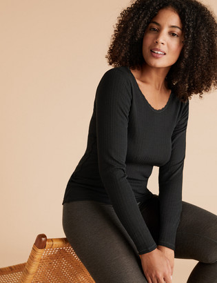 Marks and Spencer 2pk Thermal Longsleeve Tops