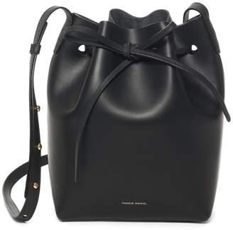 Mansur Gavriel Black Mini Bucket Bag - Raw