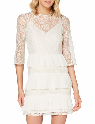 Little Mistress Women's Teigen Lace Tiered Mini Shift Dress Party