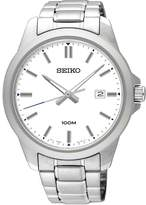 Seiko Men's 42mm Steel Bracelet & Case Quartz Dial Analog Watch SUR241