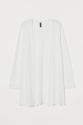 H&M Loose-knit Cardigan - White