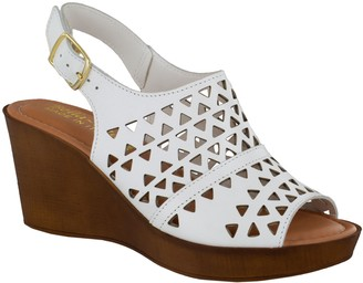 Bella Vita Italy Leather Wedge Sandals - Deb-Italy