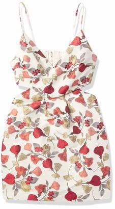 Keepsake Women's Sleeveless Feel Good Faux Wrap Mini Dress