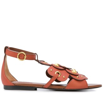 See by Chloe Layered Floral Flat Sandals
