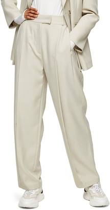 Topshop Andy Wide Leg Suit Trousers