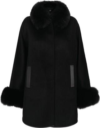 Harrods Fur Collar Cape