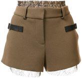 Vera Wang deconstructed shorts - women - Polyester/Acetate - 0