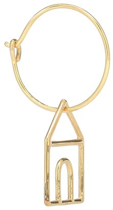 ALIITA Casita 9kt gold single hoop earring